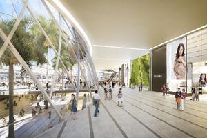 Fokus ligger på lyxshopping i den nya delen av flygplatsen.