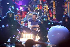 Chris Martin och Coldplay framträdde på American Music Awards i november.