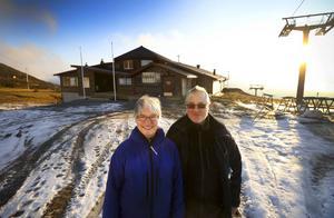 Åre Ski Inn vid VM-8:ans bergsstation har byggts ut inför vintern. Byggnationerna ska vara klart lagom till vintersäsongen drar i gång. Här ser vi platscheferna Ulla Wiklund och Rikard Jakobsen.