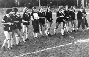 Även damerna nådde under en kort, men intensiv, tid fina resultat på fotbollsplanerna. Verksamheten startade 1971 och levde fram till och med säsongen 1986, då ett antal av Ljungas tjejer gick över till den nya satsningen Torps United. Men två säsonger på 70-talet spelade Ljunga i damernas högsta serie.