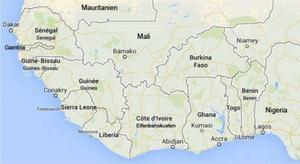 Guinea, Liberia och Sierra Leone är hårt drabbade av ebolaepidemin.