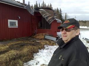 Gunnar Jakobsson, från Lillholmsjö, totalförstördes i en brand under tisdagen.Foto: Jan Andersson