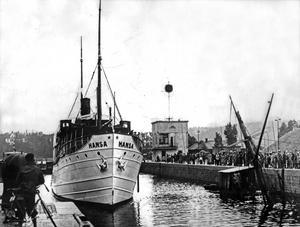 Gotlandsbåten Hansa torpederades och sjönk med 84 passagerare och besättningsmän klockan 05:57 den 24 november 1944. 84 av 86 människor ombord dog.
