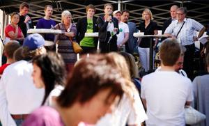 """Vid lördagens EU-debatt fick alla kandidater säga ett par inledande ord. Meeri Brandum Granqvist (kd) talade om vikten av ett starkt EU. """"EU ska vara stort och starkt och ska vara snäll. Precis som Bamse""""."""