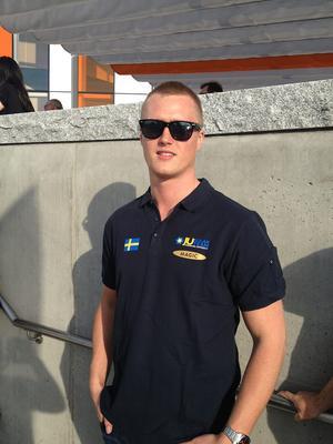 Viktor Lindskog från Ramsele är en av medlemmarna i det svenska laget.