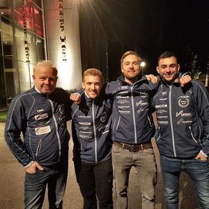 Norbergs BTK är obesegrat i division 1. Från vänster på bilden syns: Ronny
