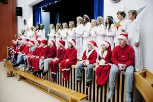 44 barn i årskurs 3 bjöd på ett stämningsfullt luciaprogram i skolans aula.