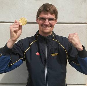 David Lindström från Kilafors vann militär-SM i pistolskytte.
