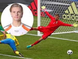Oscar Jonsson från Vemdalen tillhör Djurgårdens målvaktsuppsättning bakom Kenneth Höie och nyförvärvet Andreas Isaksson.