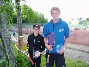 Jennifer Jussi och Per Andreassen, två glada GTK-vinnare.