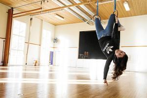 Melissa hänger, bokstavligt talat, gärna i gympasalen. Både på fritiden och på lektionerna i idrott och hälsa.