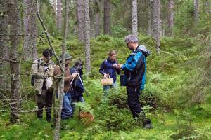 Deltagarna är indelade i grupper på fem.