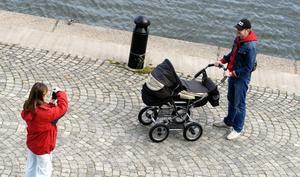 Så vackert. Fler pappor med barnvagn är en spirak väg mot jämställdhet. arkivbild: Hasse Holmberg/SCANPIX