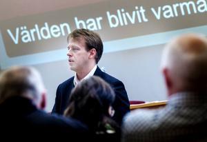 Lars Friberg, Energimyndigheten, besökte kommunfullmäktige.