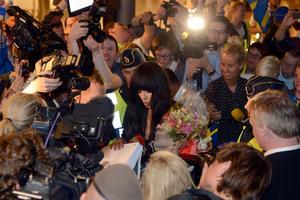 Loreen landade på Arlanda sent på måndagskvällen.