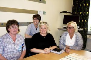 Victoria Larsson, Helena Olsson, Åsa Mörtsell Ejefalk och Carina Krantz gör vardagen lättare för dem som kommit hem från sjukhus.