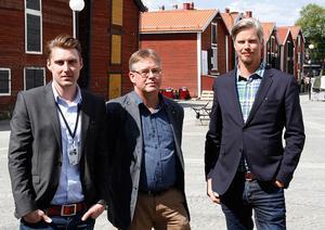 Per Classon, projektledare, Mikael Löthstam, kommunalråd (S), Ronny Lundberg, IT-strateg.