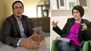Peder Björk (S), kommunstyrelsens ordförande och Malin Larsson (S), socialnämndens ordförande.