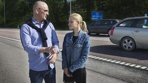 Moderaterna Dick och Isabelle Helsing vill se en snabbmatsrestaurang i Fagersta och föreslår en plats som kommunen skulle kunna göra i ordning.