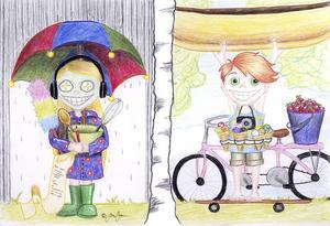 Aldrig tråkigt. Ung har tipsen för både regn och sol. illustration: sara ottosson