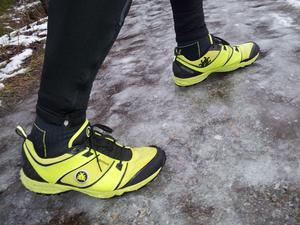 I lördags blev det 12km med vinterstiglag.Dubbade skor gör att det känns helt tryggt även fast det är isigt.