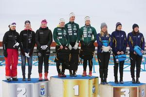 Biathlon Östersund, I 21 IF och Häverödals SK knep medaljerna på damsidan.