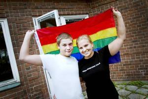 Längtar. Dennis Ridefelt och Johanna Hellgren ser fram emot folkfest och seminarier på Stockholm Pride.