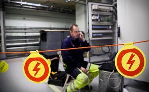 Varning för högspänning när utrustning ska kalibreras.