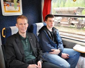 Strömsunds kommuns näringslivschef Daniel Perfect åkte med på resan längs Fjällsjöbanan och han ser positivt på en turistsatsning.