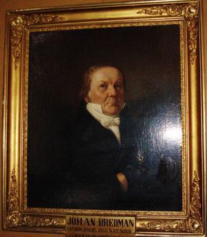 Professor Johan Bredman, 1770–1859. Oljemålning av Carl Staaff som finns i Gula salongen vid Norrlands nation i Uppsala.Foto: Jon Stridh