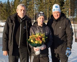 Nils-Erik Borgh, Distrikt Nord och Dalarnas Bandyallians, Mikael Danielsson och Kent Engström, ordförande i GBK.