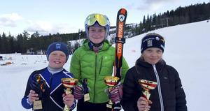 Fina framgångar i Orsa för Kungsbergets Elliot Westlund vinnare H10, Sofia von Reedtz, Gävle Alpina, silver D14 och Ellen Petrelius, Kungsberget, vinnare D10.