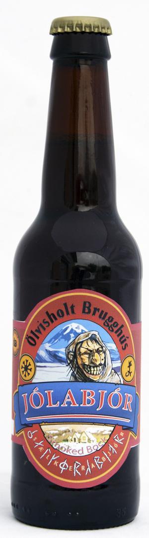 Rökig smakbomb. Island kan också det här med julöl. Är det månne vulkanutsläppens askmoln som gett en pikant rökig smak åt utmärkta Jólabjór?