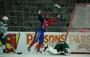 Camilla Johansson gör 2–0-målet i finalen i våras. Foto: Sören Andersson, TT