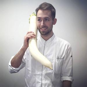 Johan Backéus blev tvåa i Årets kock 2016.