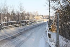 Ny bro på gång. Bron över Dalälven vid Brogård byggs om 2013.