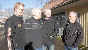 Från vänster Jörgen Stahre, Peter Svensson, Torbjörn Strandberg och Lasse Gustafsson flyttar alla till Bovieran. Bilden är från mars 2015.
