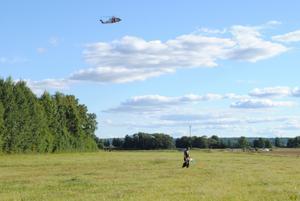 Den flygfarkost som flygräddningscentralens helikopter spanade efter visade sig vara ballonger.