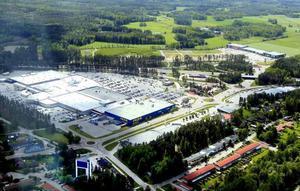 Valbo köpcentrum, innan XXL byggdes.