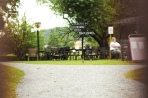 Träslottet i Arbrå. I trädgården har kommunen ordnat instegsjobb, ett sätt för utrikes födda att få arbetslivserfarenhet.