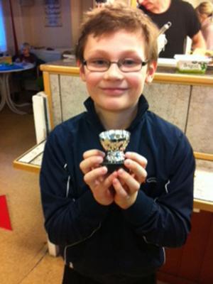 Gustav Bergshem var nöjd med tävlingen där han blev trea i tioårsklassen.
