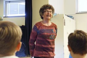 På torsdagen besökte Monica Zak Vågbroskolan för att prata om sina böcker.