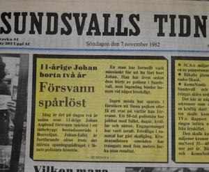 11-årige Johan Asplunds försvinnande uppmärksammas då två år gått sedan försvinnandet. I artikeln summeras det arbete som gjorts under de många försöken att få klarhet i fallet.