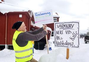 Kassör Pelle Persson var en av funktionärerna på lördagen.