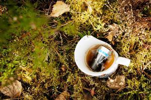 Batterier som slängts i skogen kan innebär risker för djur och natur.
