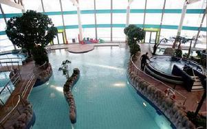 Klart att ta emot besökare igen. Äventyrsbadet öppnar idag efter att ha hållits stängt de senaste sju veckorna. FOTO: TOMAS NYBERG