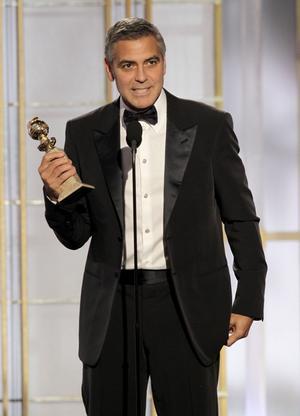 """George Clooney belönades med en Golden Globe för sin insats i filmen """"The Descendants""""."""