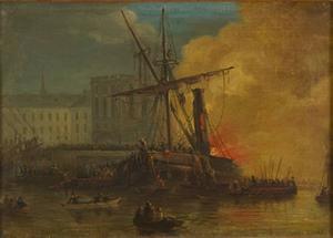 """Johan Christian Berger målade """"Oscar"""" som brann den 16 juni 1834. Bilden är inskickad av Ingvar Henricson."""