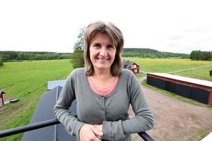 Fri sikt. Högst uppifrån tornhuset kan Susanne Runesson övervaka vad som händer i hagarna med gårdens djur.