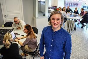 Calle Hedman är sedan oktober anställd av Destination Östersund som projektledare. I måndags ledde han arbetet under den workshop som skulle leda fram till konkreta idéer att göra verklighet av.